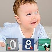 Disney Baby Boys Mickey Mouse Monthly Milestone Photo Sharing Age Blocks, Age 0-24M, 3 Blocks Gift Set