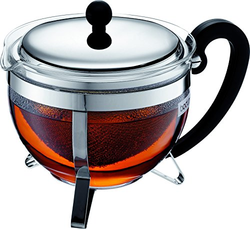 Bodum 1921-16-6 Chambord Tea Pot, 44 oz, Chrome