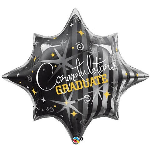 28 Congratulations Graduate Swirls Helium Shape