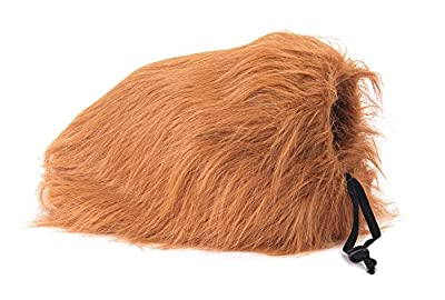 Narrrowser Cosplay Lion Mane for Dog, Pet Costume Hair Clothes Festival Soft fur Hairpiece Party Fancy Lion Periwig Toupee Dress up Hair Neck Size (from 60cm to 80cm) For Halloween