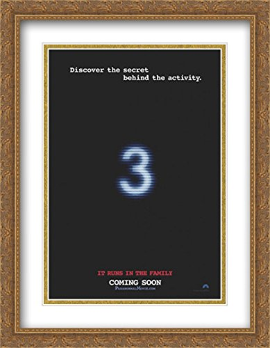 Paranormal Activity 3 28x36 Double Matted Large Large Gold Ornate Framed Movie Poster Art Print by ArtDirect