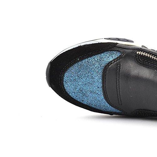 Ash Hop Zapatillas Deportivas, Mujer Negro/Azul