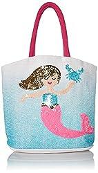 Womens Mermaid Straw Tote