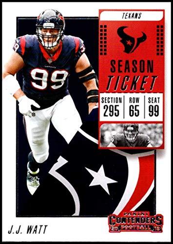 2018 Panini Contenders Season Tickets Football #61 J.J. Watt Houston Texans Official NFL Trading - Houston Texans Tickets Football