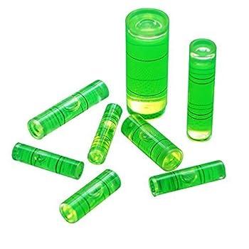 Driak Inclinometer Spirit Level Bubble-Tube Vial Mini Bubble Spirit Level Gradienter 6*15mm 7*26mm ,8*31mm