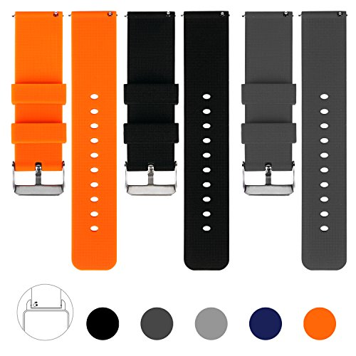 vetoo-22mm-quick-release-watch-bands-silicone-watch-band-with-adjustable-metal-clasp-pack-of-3