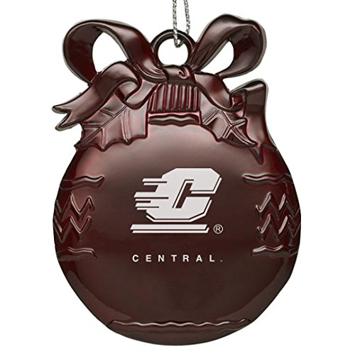 Central Michigan University - Pewter Christmas Tree Ornament - Burgundy