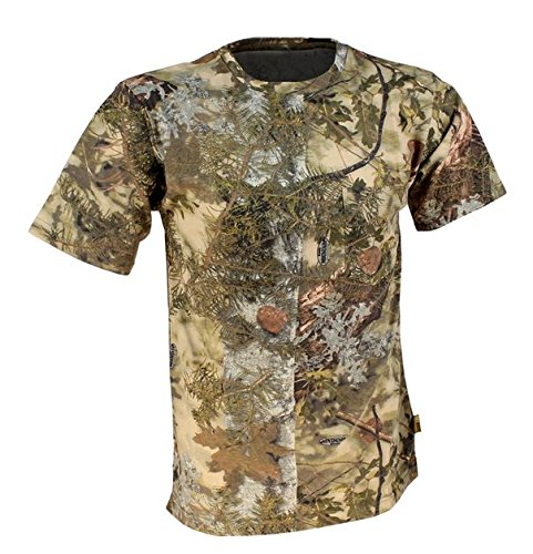 King's Camo Cotton Short Sleeve Hunting Tee, Mountain Shadow, Medium