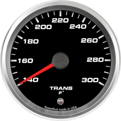 Speedhut GR33-TT02 Trans Temp Gauge 140-300F (With Warning LED), 3-3/8'' by SpeedHut