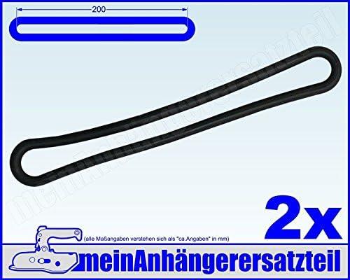2x Gummi Spannring Gummiband f/ür Pkw Anh/änger Planen Anh/ängerplane 200mm schwarz
