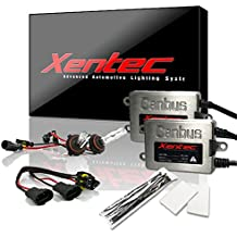 Xentec HID Kit 9005 6000K with 45W Error Free Slim CANBUS Ballast (ultra white, also fit 9011,9055,9145,HB3,H12)