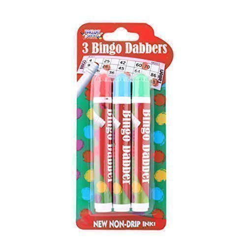 Novelty Bingo Dabbers Marker Pens Assorted Colours Non Drip Ink by The Home Fusion Company
