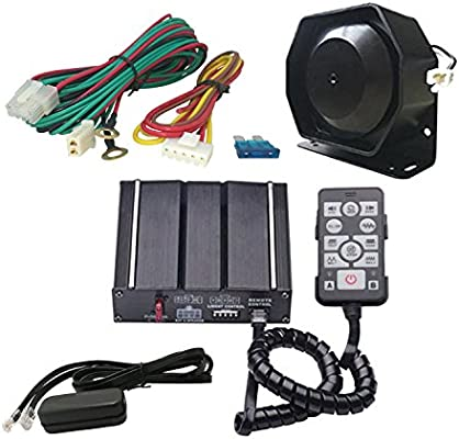 Amazon.com: AS A3E-SPK0021 100 Watt Police Car Siren Kit with Speaker Wired  Remote PA System Auxiliary Light Terminal Wiring Harness(2.5M) Fit for  Police Ambulance Fire Engineer Vehicles 12V DC 8Ohms: AutomotiveAmazon.com