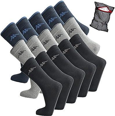 ANTES DE CRISTO. Artesano Fundación  Calcetines deportivos kappa - unisex - calcetines de algodón - talla 39-46  disponible - calcetines de tenis, número de zapato:39 - 42, color:10 pares  - negro: Amazon.es: Deportes y aire libre