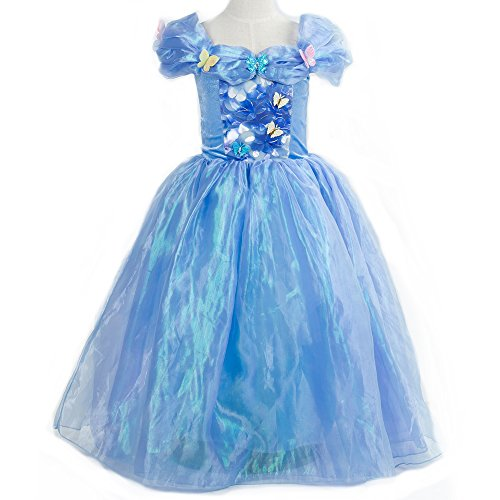 [Gotu Palace Princess Costume Cinderella Dress Butterfly Girl Dress (6-7 years old)] (Orange Adult Butterfly Costumes)