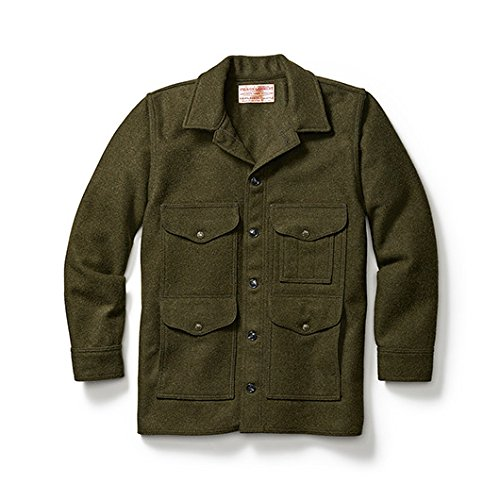 Filson Mens 10043 Wool Mackinaw Cruiser (46, Forest Green)