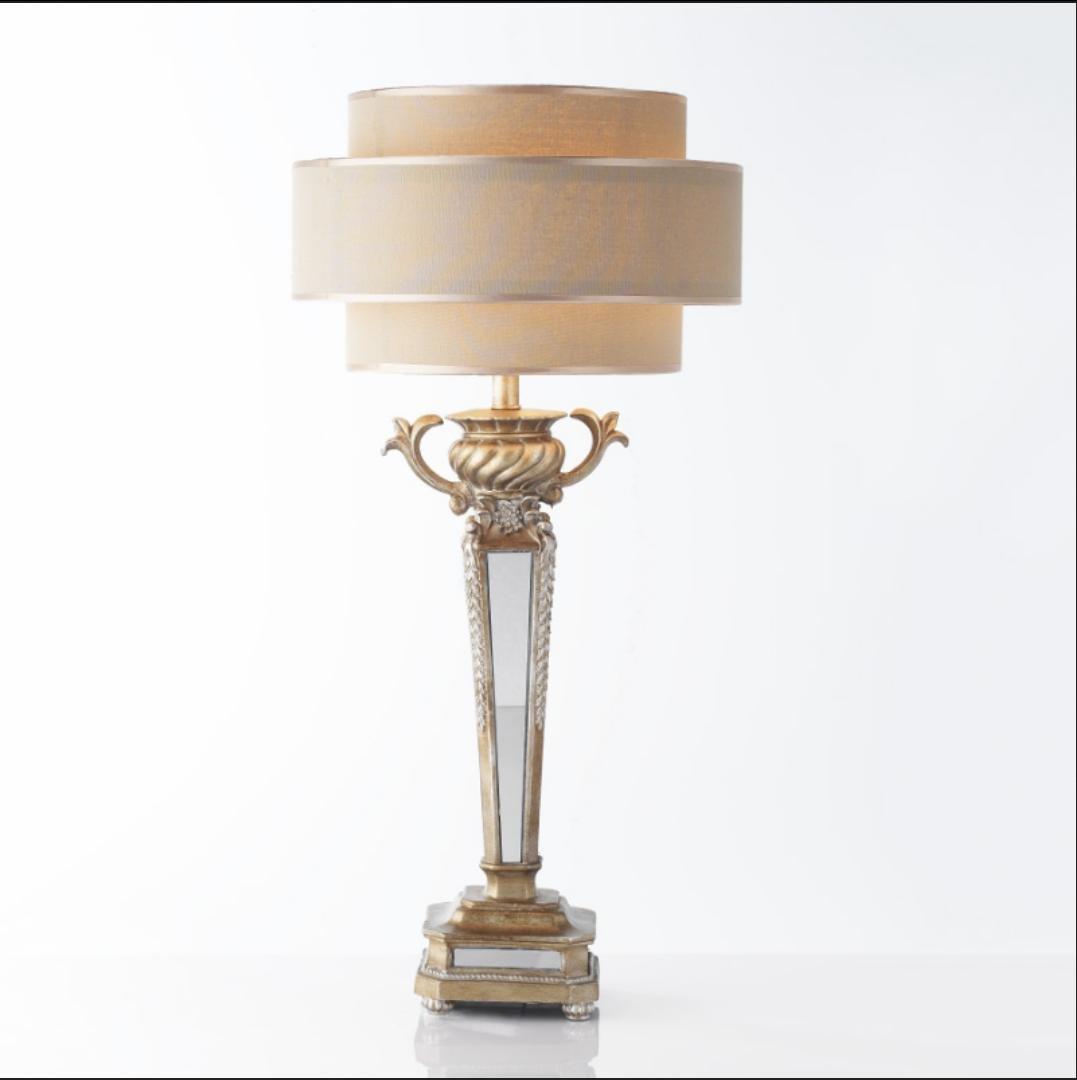Rural retro Spiegel Harz Tischlampe Schlafzimmer Nacht Villa Modell Raum dekorative Leuchten (ohne Lichtquelle)
