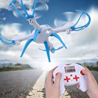 Dwi Dowellin RC Drones Quadcopter 2.4Ghz 4 Channels 6-axis Gyro Professional Drone Helicopter X15S White