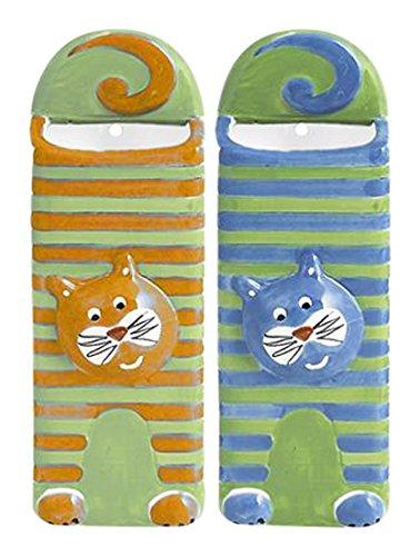 Home Cat Juego 2Evaporador con Plato, cerámica, 17x 6x 23cm, 8x 19.5x 3cm