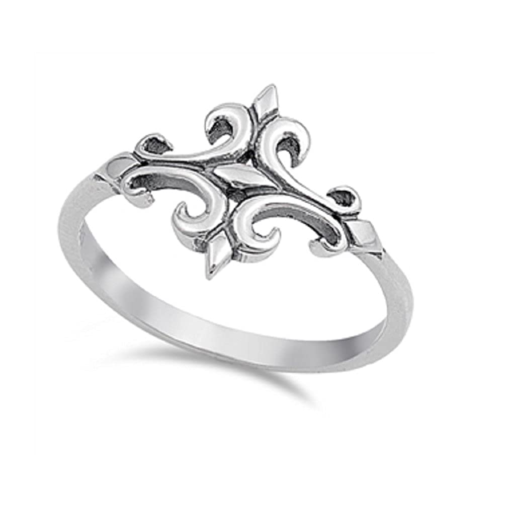 CloseoutWarehouse Sterling Silver Celtic Sideway Cross Ring