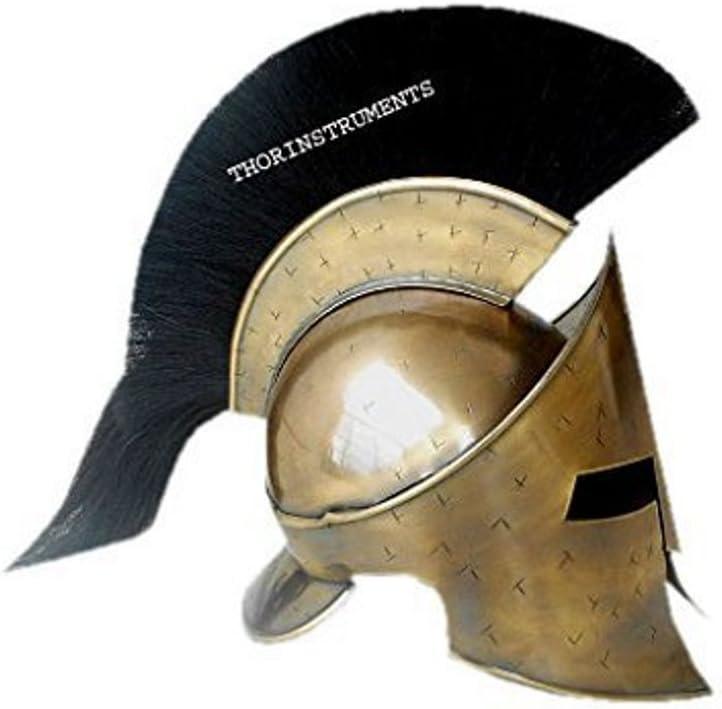 historicalmuseumstore Collectibles casco medieval romano espartano, King 300 Leonidas Armorw/ Plume Golden: Amazon.es: Hogar