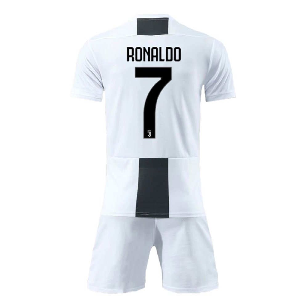 reputable site 241d2 9b69c Bamerand Youth Ronaldo Jerseys Juventus # 7 Kid's(Boy's) Soccer Jersey  2018/2019 Home Shorts White
