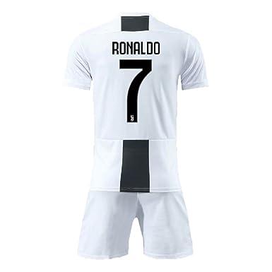reputable site e49a9 176db Bamerand Youth Ronaldo Jerseys Juventus # 7 Kid's(Boy's) Soccer Jersey  2018/2019 Home Shorts White