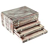 Cheap MyGift Torched Wood 6-Drawer Desktop Document & Filing Cabinet Organizer Box