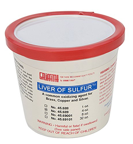4 Oz Liver of Sulfur Bronze Copper Silver Jewelry Metal Oxidizing Agent PMC Supplies SOL-600.04