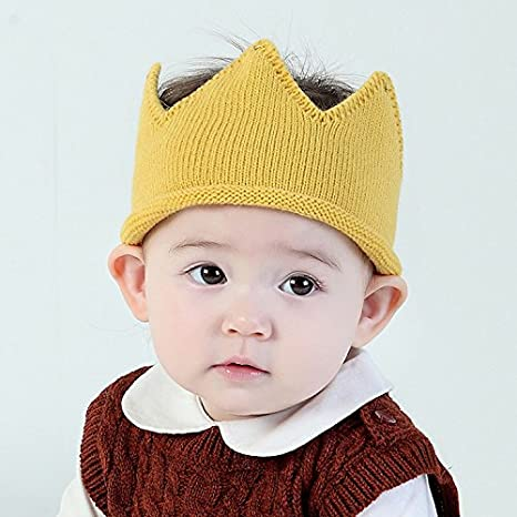 June Bloomy Baby First Birthday Party Knitted Hat 1st Crown Headband Beanie Warm Cap