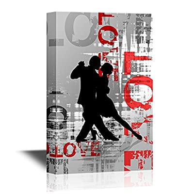 Pretty Visual, Silhouettes of The Pairs Dancing Ballroom Dances Tango, it is good
