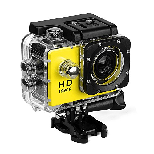 Action Camera 480P Waterproof Sports Cam 140 Degree Ultra Wide-Angle Lens with Mounting Accessories Kits For Snorkeling,Motorcycle,Bike,Helmet,Car,Ski and Water Sports Review