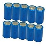 10 Pack ER34615 3.6V 19000mAh Size D Lithium Battery Button Top