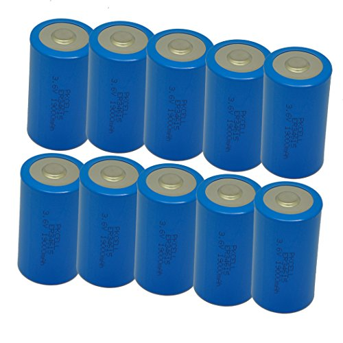 ER34615 3.6V 19000mAh Size D Lithium Button Top Battery 10 Pack by PK Cell