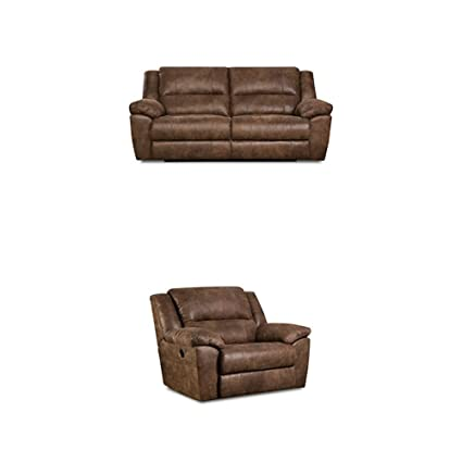 Outstanding Simmons Upholstery Phoenix 2 Pc Living Room Set With Double Motion Sofa And Cuddler Recliner Mocha Pabps2019 Chair Design Images Pabps2019Com