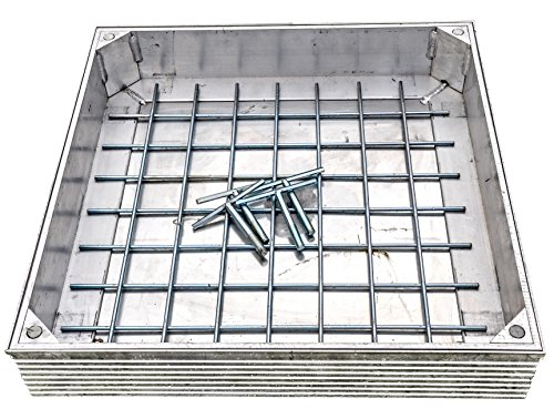 DS-Line-60. 300 X 300 X 48mm Aluminium Double Sealed Recessed Manhole Cover MPP