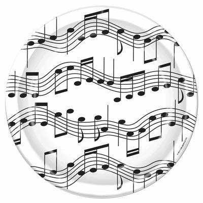 Musical Notes 7 Inch Plate (Pack of -