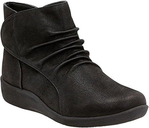 CLARKS Women's Sillian Sway Ankle Bootie, Black, 6.5 M US