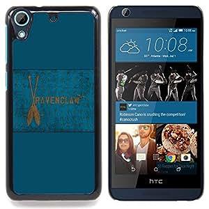 "Qstar Arte & diseño plástico duro Fundas Cover Cubre Hard Case Cover para HTC Desire 626 (Bandera de Ravenclaw"")"