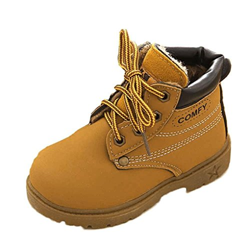 Leewa Hot Sale ! COMFY Winter Baby Child Martin Boot Warm Shoes (12-18 Months, - Sale Boots Uk