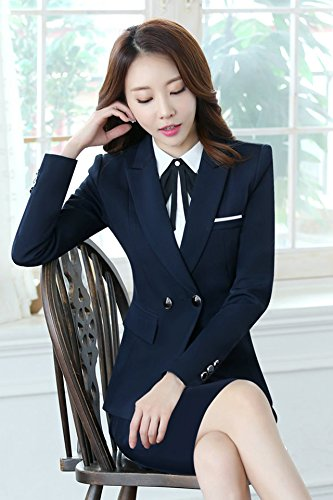 067699afb Amazon.com   Spring and autumn and winter wear suit suit female three-piece  black suit dress uniforms female college students interview for women girl    ...
