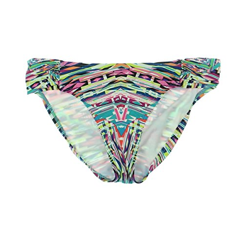 (Kenneth Cole REACTION Women's Hot to Trot Tribal Sash Tab Bikini Bottom, Blue Hawaii, Medium)
