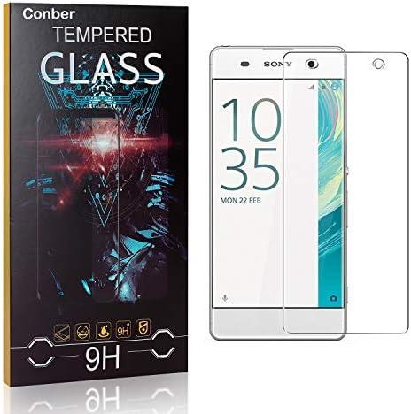 Conber [1 Stück] Displayschutzfolie kompatibel mit Sony Xperia XA, Panzerglas Schutzfolie für Sony Xperia XA [9H Härte][Hüllenfreundlich]