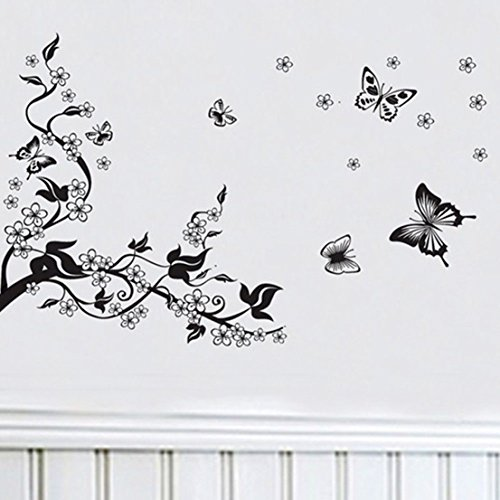 Blameless Popular Home Decoration Art Quote Butterfly Family Flowers Wall Stickers Removable PVC Decals Mural -