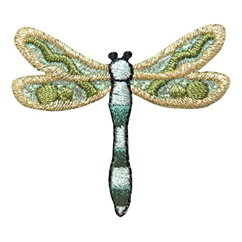 ID 1658A Forest Dragonfly Patch Garden Insect Bug Embroidered Iron On Applique