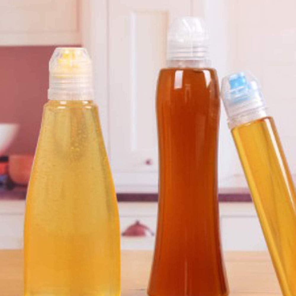 EOPER 4 St/ück 400g Wiederverwendbare Squeeze Honigflaschen Kunststoff Versiegelung Honigspender mit Deckel Tragbar Gew/ürzbeh/älter Beh/älter f/ür Ketchup Senf