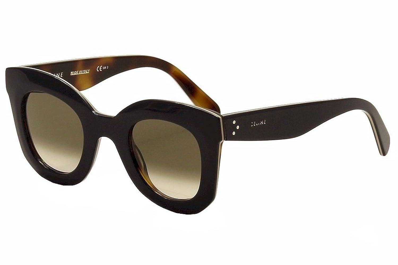 03ed6c99cb63 Celine Women s 41393 Blue   Beige   Tortoise Frame Brown Gradient Lens  Plastic Sunglasses  Amazon.co.uk  Clothing