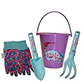 Midwest Quality Gloves SHP16P02-EA-AZ-6 Nickelodeon Shimmer & Shine Kids Garden Pack, Toddler, Multicolor