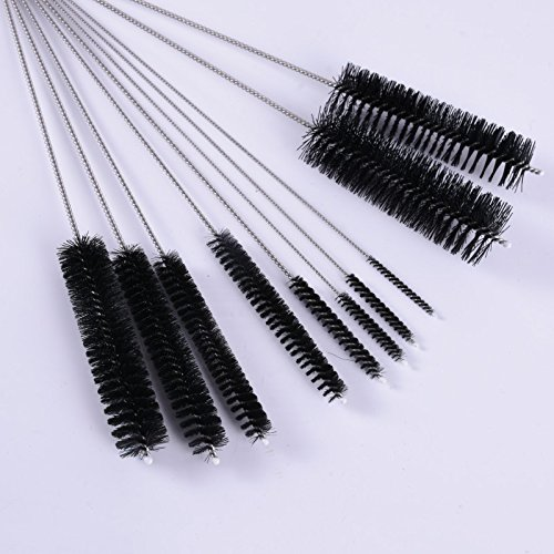 Amazon.com: Metal Cleaning Brush - Narguile Metal Cleaning Brush Clean Glass Hookah Smoking Cachimba Pipas Fumar Feeding Bottle 10 Pcs - Set Grinder Drill ...
