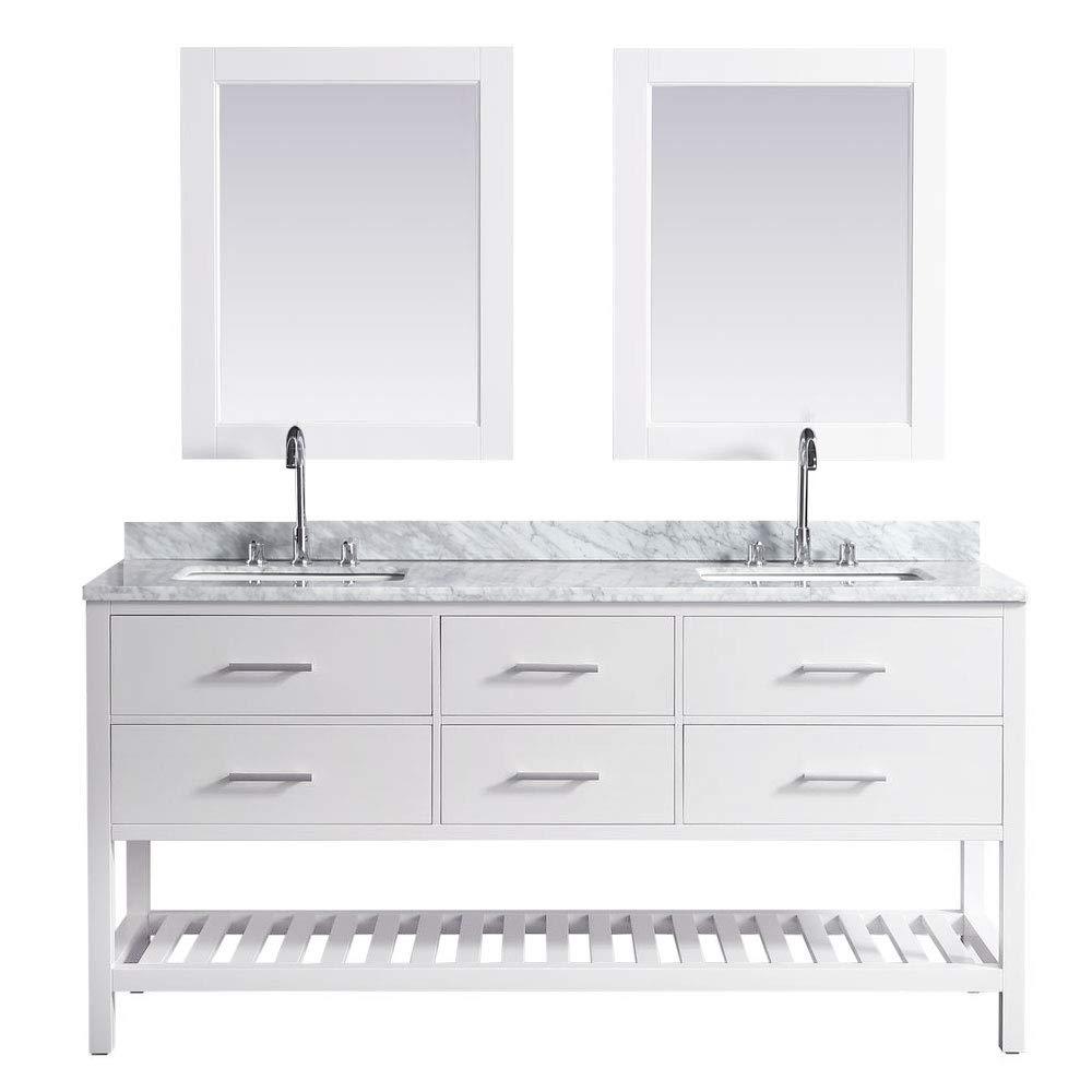 Design Element Dec077b W London 72 Inch Double Sink Vanity Set In
